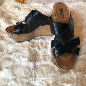 Born black wedge sandals EU 36.5